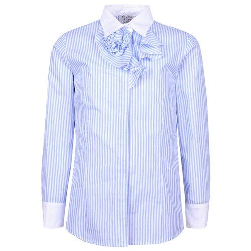 Купить Рубашка Aletta размер 140, белый/голубой, Рубашки и блузы