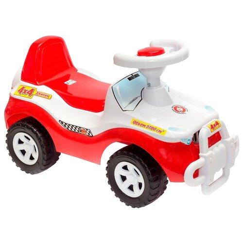 Купить Каталка-толокар Orion Toys Джипик (105) со звуковыми эффектами красный, Каталки и качалки