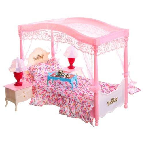 Купить Gloria Кровать с балдахином (2314/Д20010) розовый, Мебель для кукол