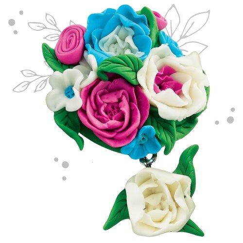 Брошь из полимерной глины своими руками «Цветы». Набор для творчества