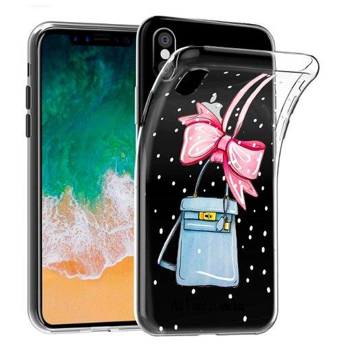 Чехол With Love. Moscow W003775APP для Apple iPhone X new bag beach bag straw totes bag bucket summer bags with tassels women handbag 2018 new high quality pink bag