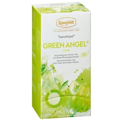 Чай зеленый Ronnefeldt Teavelope Green Angel в пакетиках, 25 шт.