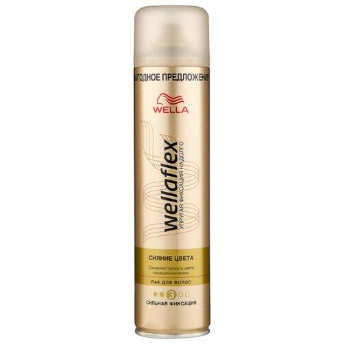 Wella Лак для волос Wellaflex Сияние цвета сильной фиксации, сильная фиксация, 400 мл wella лак для волос сильной фиксации stay styled 300 мл
