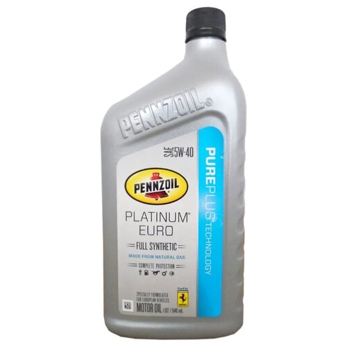 Фото - Моторное масло Pennzoil PENNZOIL Platinum Euro Full Synthetic Motor Oil 5W-40 0.946 л моторное масло pennzoil gold synthetic blend sae 5w 30 0 946 л