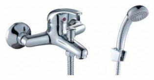 Однорычажный смеситель для ванны с душем Rossinka Silvermix C40-31