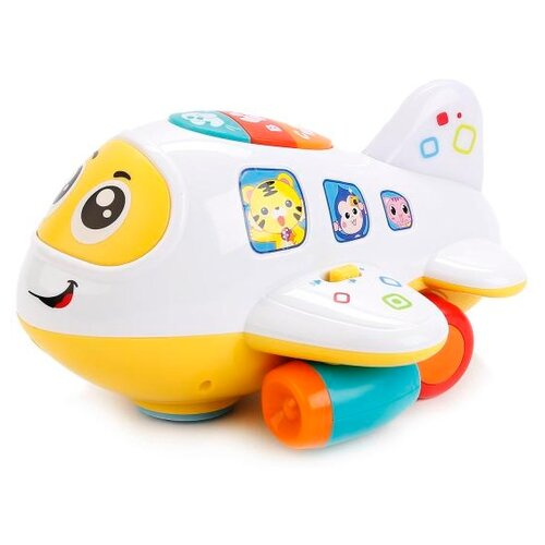 Развивающая игрушка Play Smart Расти, малыш Крошка самолет 7724 белый/желтый игрушка пластмассовая каталка вертолет play smart pac 28х15х10 см арт 1192