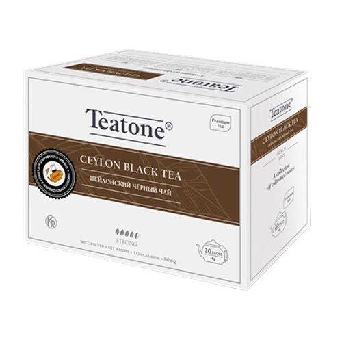 Чай черный Teatone Цейлонский в пакетиках для чайника, 20 шт. чай улун императорский чай professional oolong в пакетиках для чайника 20 шт
