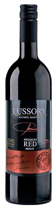 Вино безалкогольное Lussory Premium красное полусухое Merlot 0.75 л