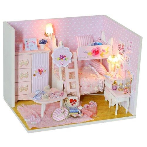 FindusToys кукольный домик Сделай сам 3D дизайн. Pink Girl FD-02-009, розовый/белыйКукольные домики<br>