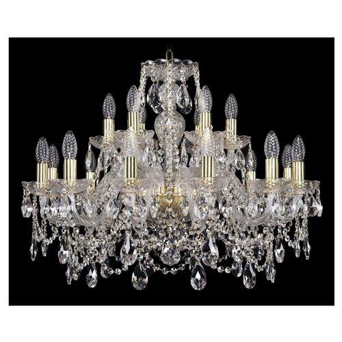 Люстра Bohemia Ivele Crystal 1411 1411/12+6/240/G, E14, 720 Вт bohemia ivele crystal подвесная люстра 1411 12 380 72 g
