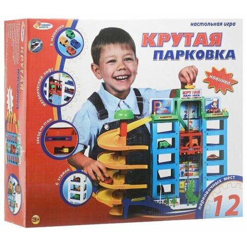 Купить Играем вместе Крутая парковка желтый/голубой/зеленый/красный/синий, Детские парковки и гаражи