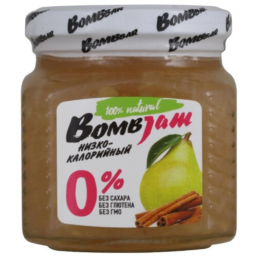 Джем низкокалорийный BombBar Груша-Корица без сахара, банка 250 г