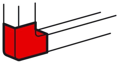 Угол плоский для настенного кабель-канала Legrand 638023