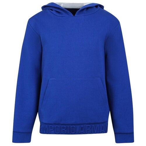 Купить Худи EMPORIO ARMANI размер 152, синий, Толстовки