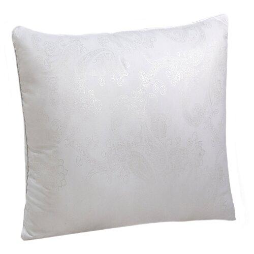 Подушка Василиса лебяжий пух/глосс-сатин 70 х 70 см белый подушка для кормящих smart textile мамина радость с наволочкой наполнитель искуственный лебяжий пух 66 х 34 х 36 см