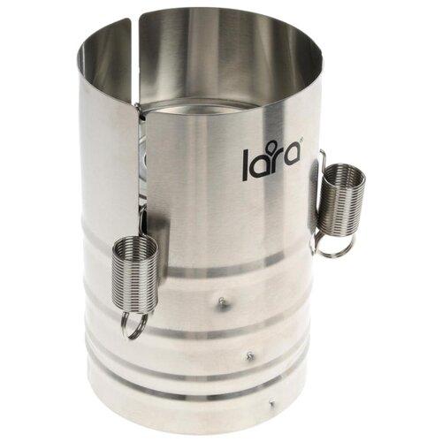 Ветчинница LARA LR02-99 сталь кастрюля lara lr02 301 24 см 4 5 л литой алюминий