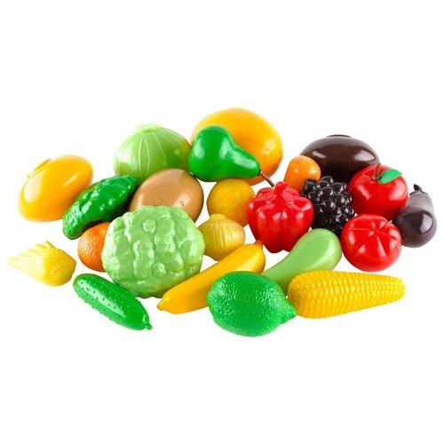 Набор продуктов Пластмастер Овощи - фрукты 21050 разноцветный набор посуды пластмастер чайный 21001 разноцветный