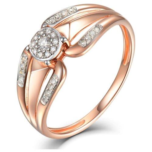 Бронницкий Ювелир Кольцо из красного золота R01-D-R17AR0012B-R17, размер 17 бронницкий ювелир кольцо из красного золота r01 d 1983089ab r17 размер 17