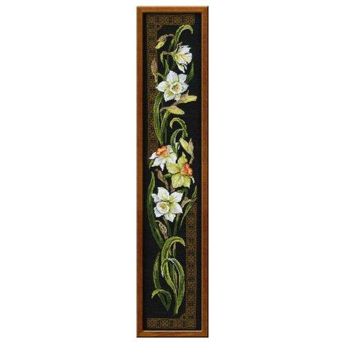 Купить Риолис Набор для вышивания крестом Нарциссы 20 х 92 (842), Наборы для вышивания