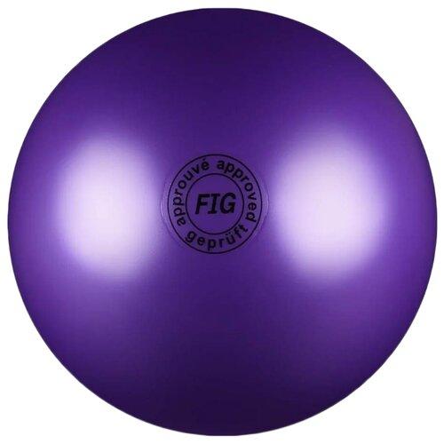 Мяч для художественной гимнастики Indigo AB2801 фиолетовый шапочка для плавания indigo объемный рисунок розы цвет фиолетовый