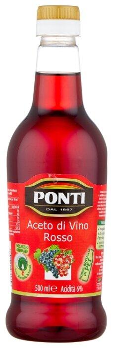 Уксус PONTI винный красный 6% пл/б 0,5л