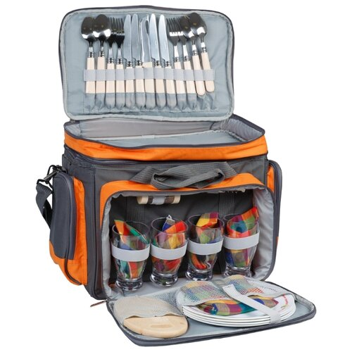 Набор для пикника Camping World Beer Master, 29 предметов серый/оранжевый