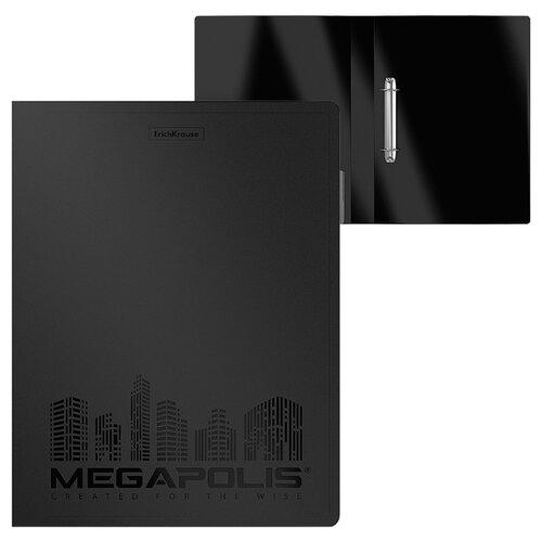 ErichKrause Папка на 2 кольцах пластиковая Megapolis А4, 35 мм черный
