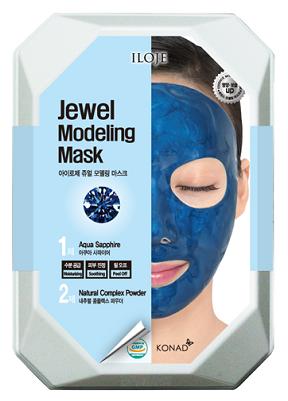 Konad Моделирующая альгинатная маска с сапфировой пудрой для ровного красивого тона лица Iloje Jewel Modeling Mask
