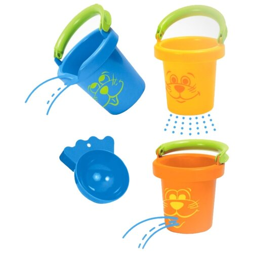 Купить Набор Gowi 558-11 3 предмета синий/желтый/оранжевый, Наборы в песочницу