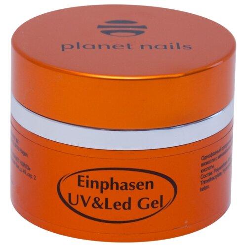 Гель planet nails Einphasen UV/LED Gel моделирующий однофазный, 50 г прозрачный лампа led uv planet nails priority 48 вт белый черный