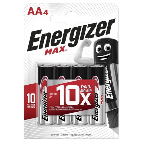 Фото - Батарейка Energizer Max+Power Seal AA/LR6 4 шт блистер батарейка philips power alkaline aa 4 шт блистер