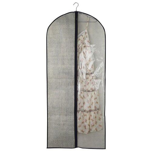 Vetta Чехол для одежды с прозрачным окном 138х60см серый