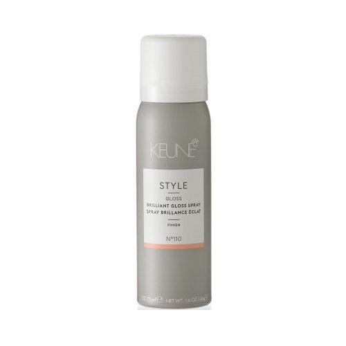Купить Keune Спрей-блеск Style Brilliant Gloss N°110, слабая фиксация, 75 мл