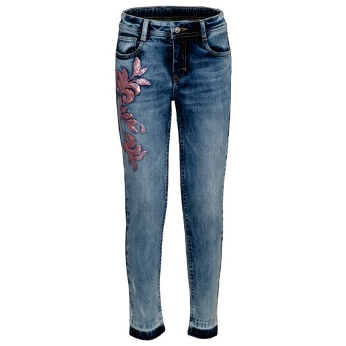 Джинсы Gulliver размер 164, синий джинсы gulliver размер 134 синий
