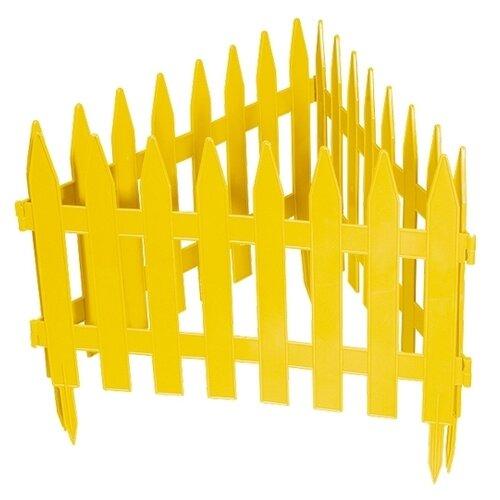 Забор декоративный PALISAD Рейка, желтый, 3 х 0.28 м