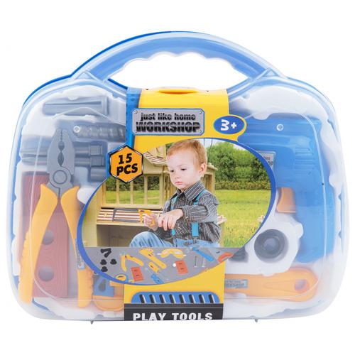 Наша игрушка Набор инструментов в кейсе, 15 предметов (200153169) набор инструментов stinger 20 инструментов в пластиковом кейсе 160х40x90 мм