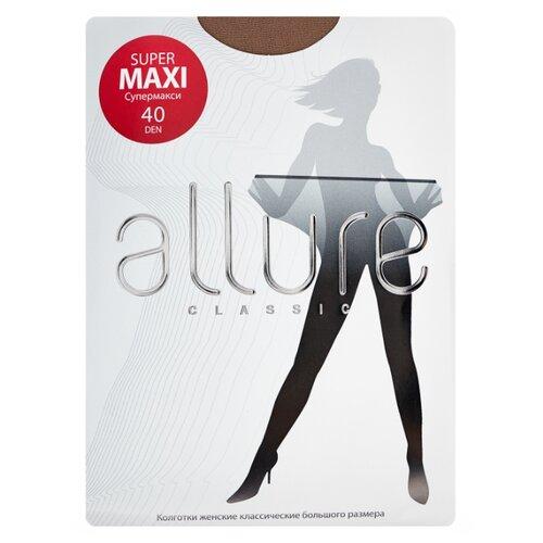 Фото - Колготки ALLURE Classic Supermaxi 40 den, размер 7, glase (золотистый) колготки allure classic support 30 den размер 5 glase золотистый