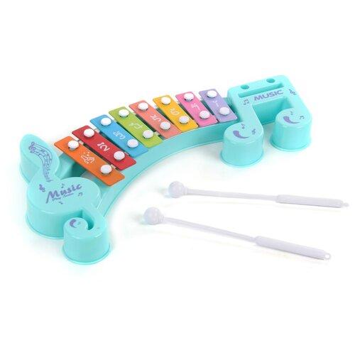 Купить Veld Co металлофон Музыкант 91322 голубой, Детские музыкальные инструменты