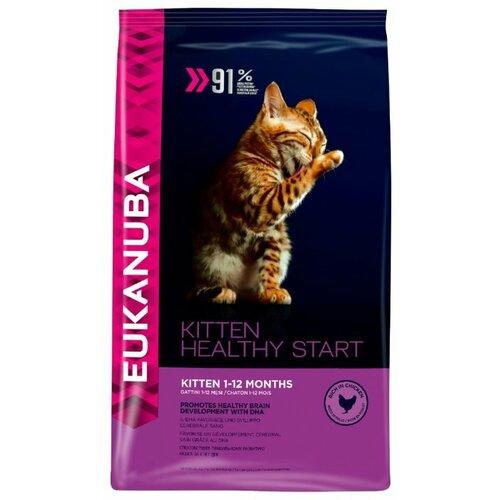 Корм для котят Eukanuba Healthy start с курицей 400 г eukanuba сухой корм eukanuba kitten healthy start для котят беременных и кормящих кошек с курицей 400 г
