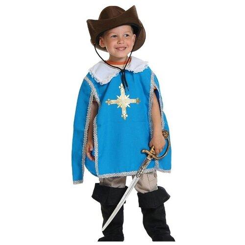 Купить Костюм КарнавалOFF Мушкетер (5123/5124), синий, размер 128-134, Карнавальные костюмы