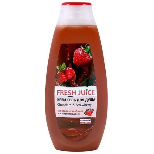 Фото - Крем-гель для душа Fresh Juice Chocolate & strawberry, 400 мл fresh juice сахарный скраб для тела chocolate and marzipan 225 мл