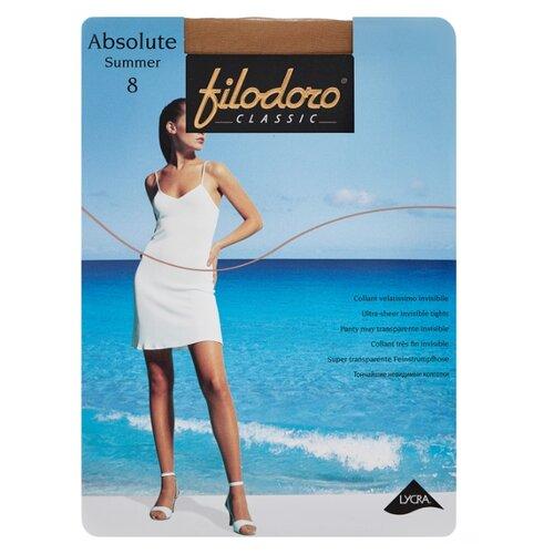 Фото - Колготки Filodoro Classic Absolute Summer, 8 den, размер 4-L, playa (бежевый) колготки filodoro classic ok shape 40 den размер 4 l playa бежевый