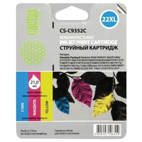 Фото - Картридж струйный CACTUS (CS-C9352C) для HP Deskjet 3920/3940/officeJet4315, цветной, 21 мл картридж струйный hp 729 f9j81a цветной