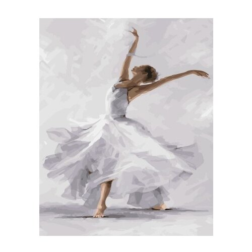 ВанГогВоМне Картина по номерам Белый танец , 40х50 см (ZX 21827), Картины по номерам и контурам  - купить со скидкой