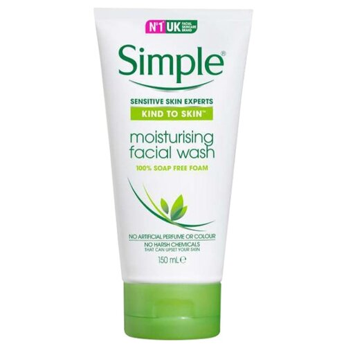 цена на Simple очищающий гель Kind to Skin Moisturising Face Wash, 150 мл