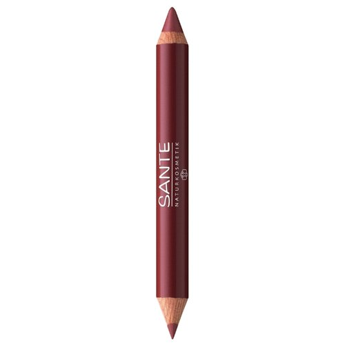 Sante Naturkosmetik помада-карандаш для губ 2 в 1 Lip Duo Contour & Gloss, оттенок 03 glamorous look