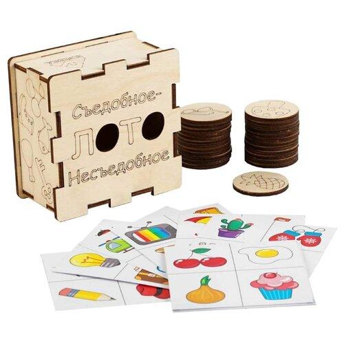 Фото - Настольная игра Крона Лото Съедобное-несъедобное компания лис раскраска лис с наклейками съедобное несъедобное
