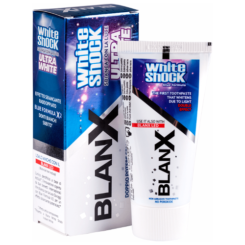 Зубная паста BlanX White Shock Ultra White, ультра белизна 50 млЗубная паста<br>