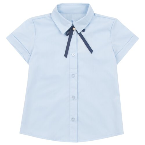 Фото - Блузка Leader Kids размер 152, голубой шорты leader kids размер 152 белый розовый голубой