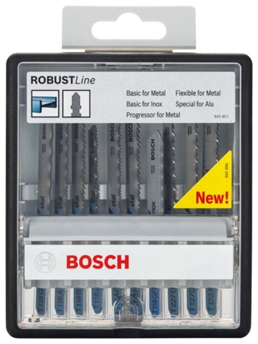 Набор пилок для лобзика BOSCH Robust Line Metal Expert 10 шт.